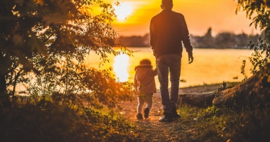 life insurance policy holder and child